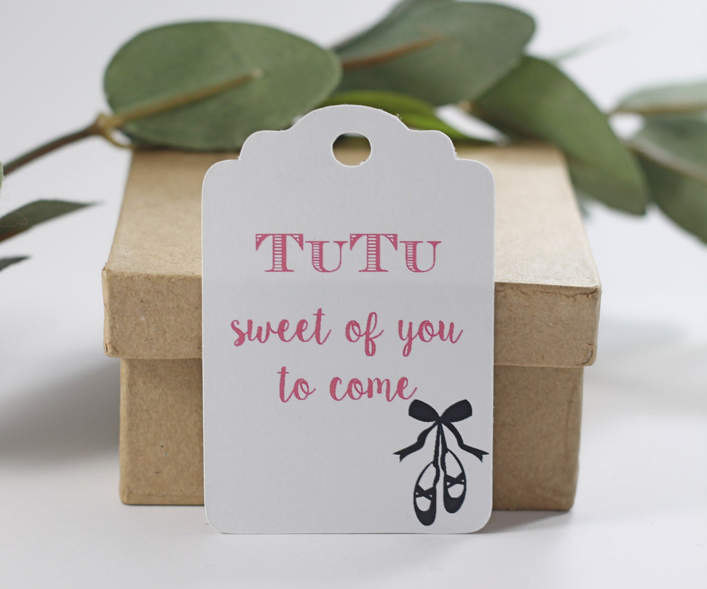 Party Thank You Tags with Dance Shoes - Tutu Sweet of You to Come - 20pc-Party Tags-The Paper Medley