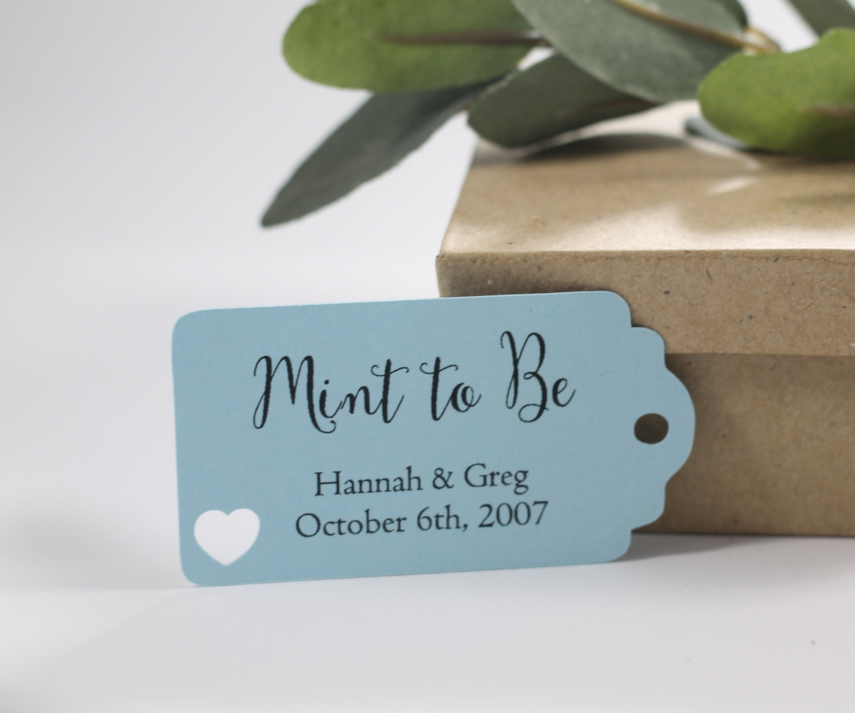 Small Personalized Wedding Tags - Mint to Be - Light Blue - 20pc-Wedding Tags-The Paper Medley