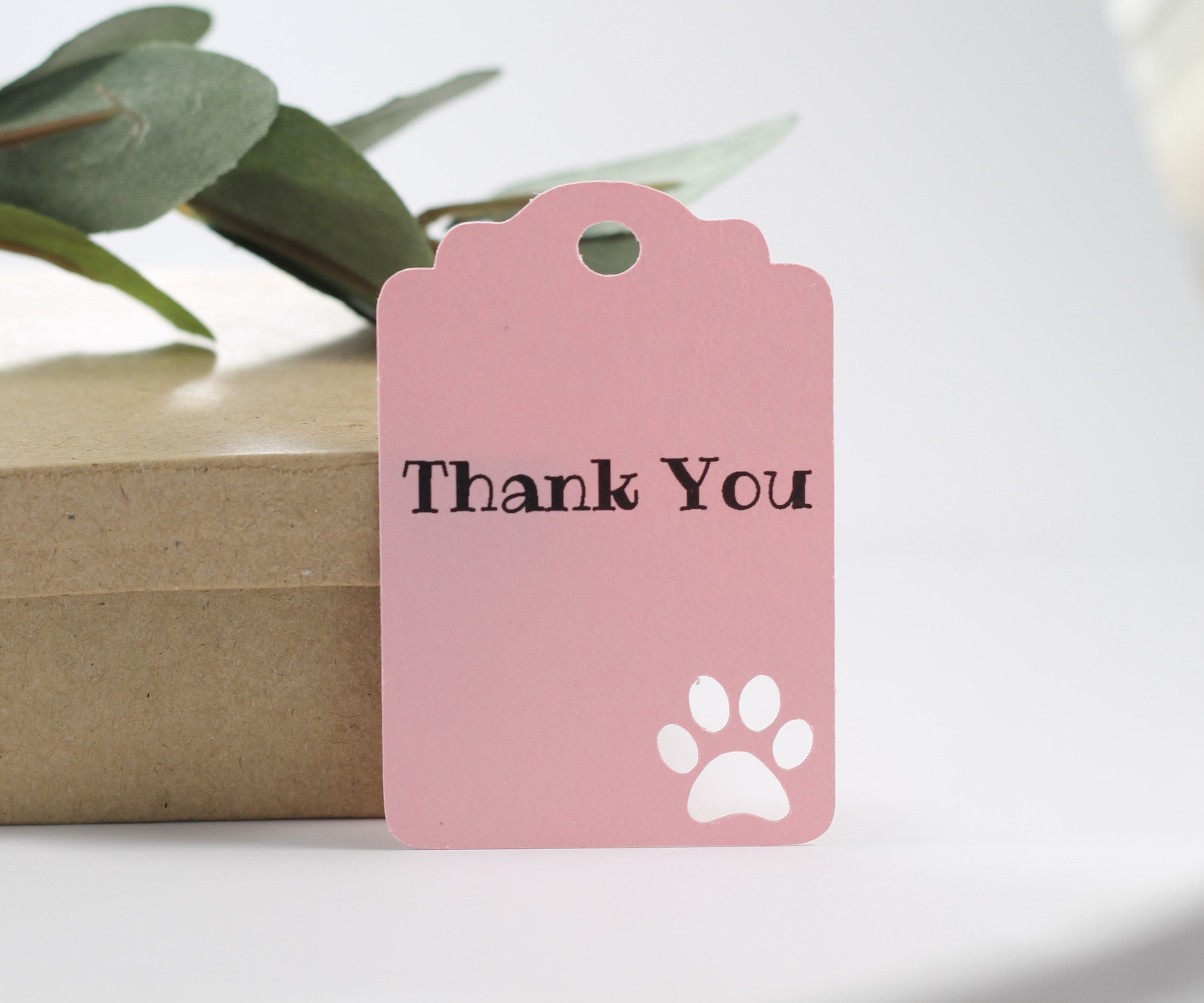 Light Pink Paw Print Party Tags Set of 20-Party Tags-The Paper Medley