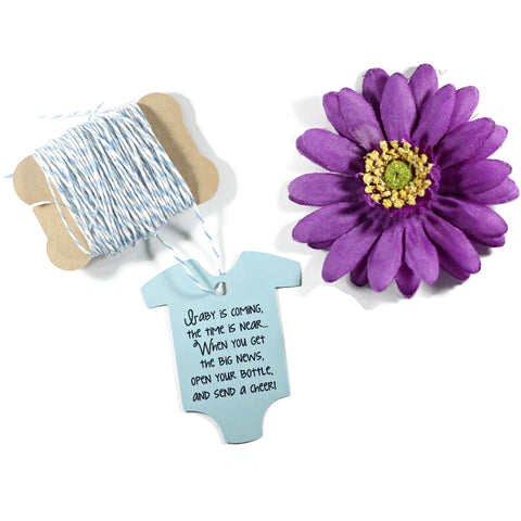 Light Blue One Piece Favor Tags