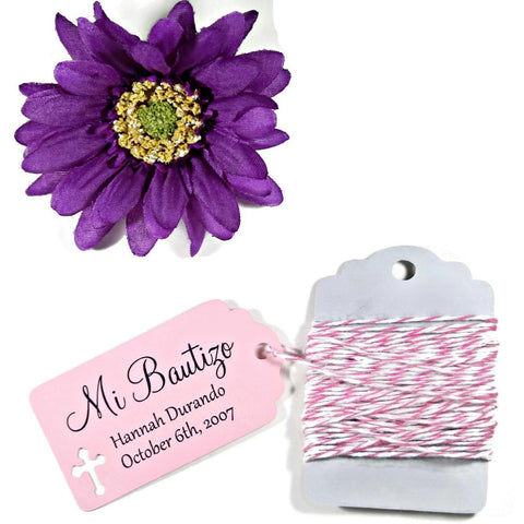 Pink Baptism Tags - Mi Bautizo Set of 20 - The Paper Medley