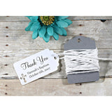 Small White Baptism Tags - Thank You - White - 20pc-Baptism Favor Tags-The Paper Medley