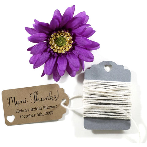 Small Kraft Brown Favors - Mani Thanks Set of 20 | The Paper Medley - The Paper Medley