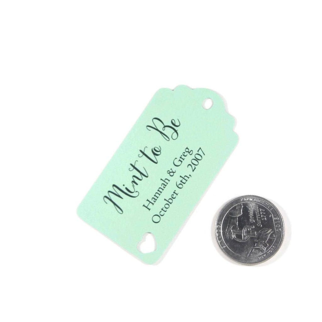 Small Personalized Wedding Tags - Mint to Be - Light Green - 20pc-Wedding Tags-The Paper Medley
