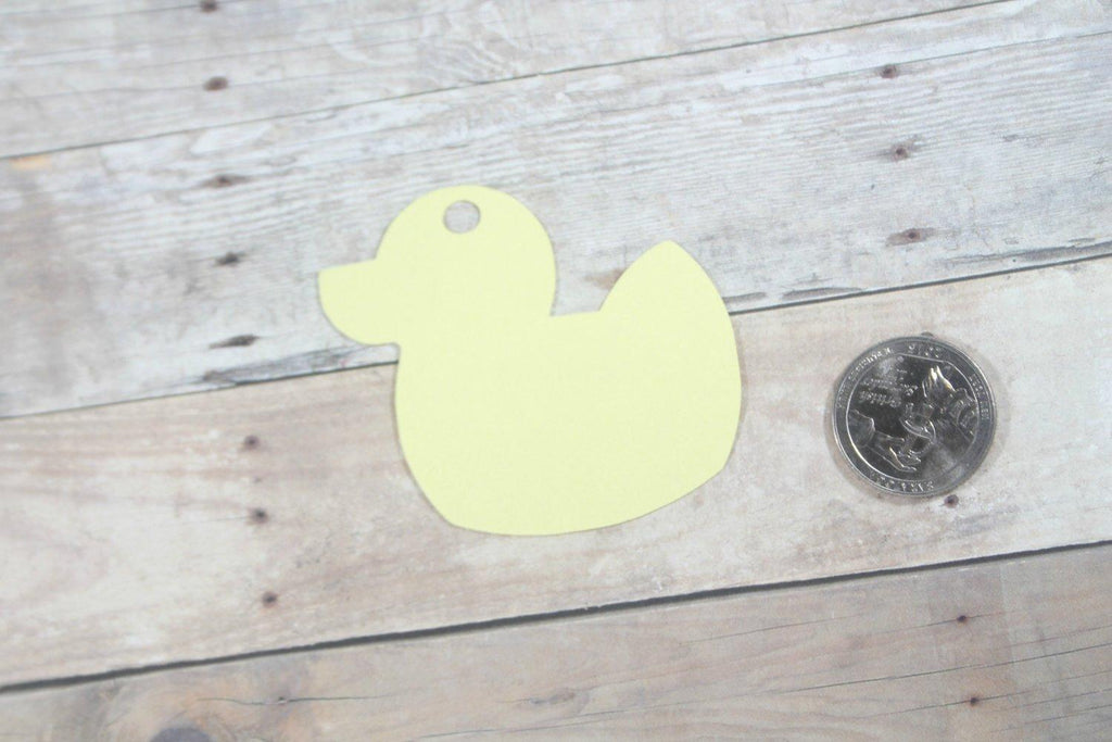 Baby Shower Tags - Duck Shape - Thank You - Yellow - 20pc-Baby Shower Tags-The Paper Medley