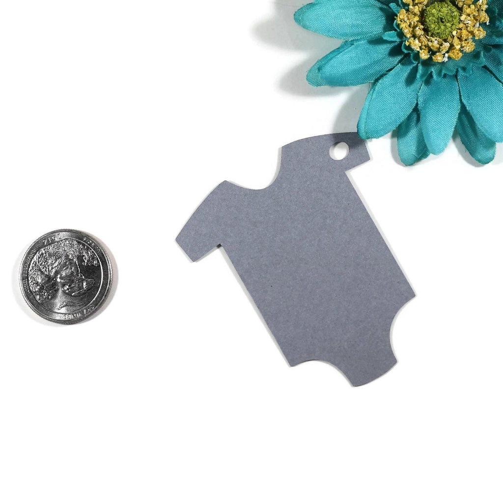 Baby Shower Tags - Grey - From My Shower to Yours - 20pc-Baby Shower Tags-The Paper Medley