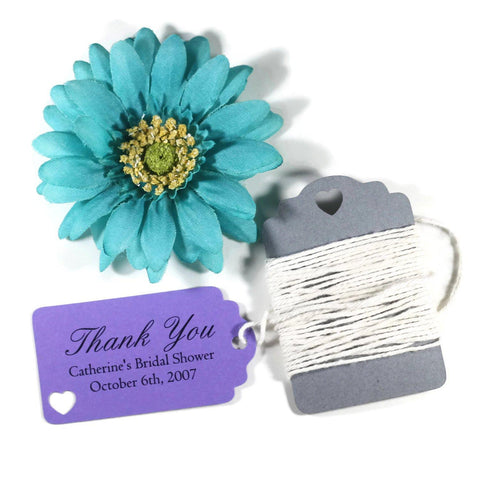 Purple Bridal Shower Thank You Favor Tags Set of 20 | The Paper Medley - The Paper Medley