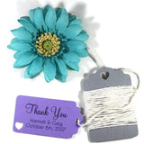 Small Personalized Wedding Tags - Thank You - Purple - 20pc-Wedding Tags-The Paper Medley