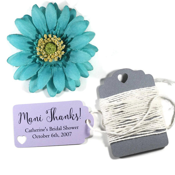 Small Pale Purple Mani Thanks Favor Tags Set of 20 | The Paper Medley - The Paper Medley