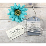 Personalized Wedding Tags - Cream Wedding Thank You Favors - 20pc-Wedding Tags-The Paper Medley