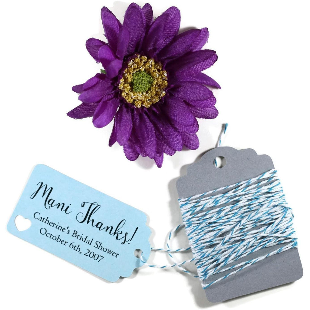 Bridal Shower Favor Tags - Mani Thanks - Light Blue - 20pc-Bridal Shower Tags-The Paper Medley