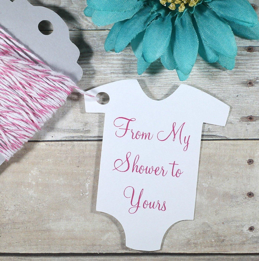 Baby Shower Tags - Girl's Set of 20-Baby Shower Tags-The Paper Medley