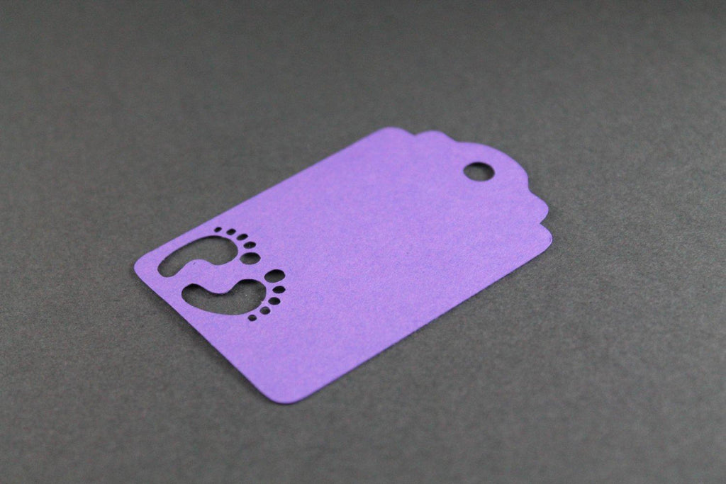 Baby Shower Tags - Custom Purple - 20pc-Baby Shower Tags-The Paper Medley