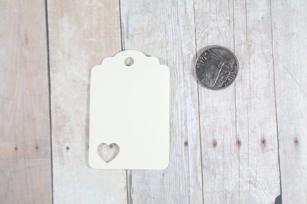 Wedding Tags with Heart - Thank You - Cream - 20pc-Wedding Tags-The Paper Medley