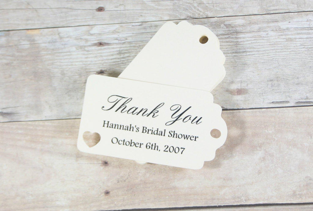 Small Bridal Shower Favors in Cream Set of 20-Bridal Shower Tags-The Paper Medley