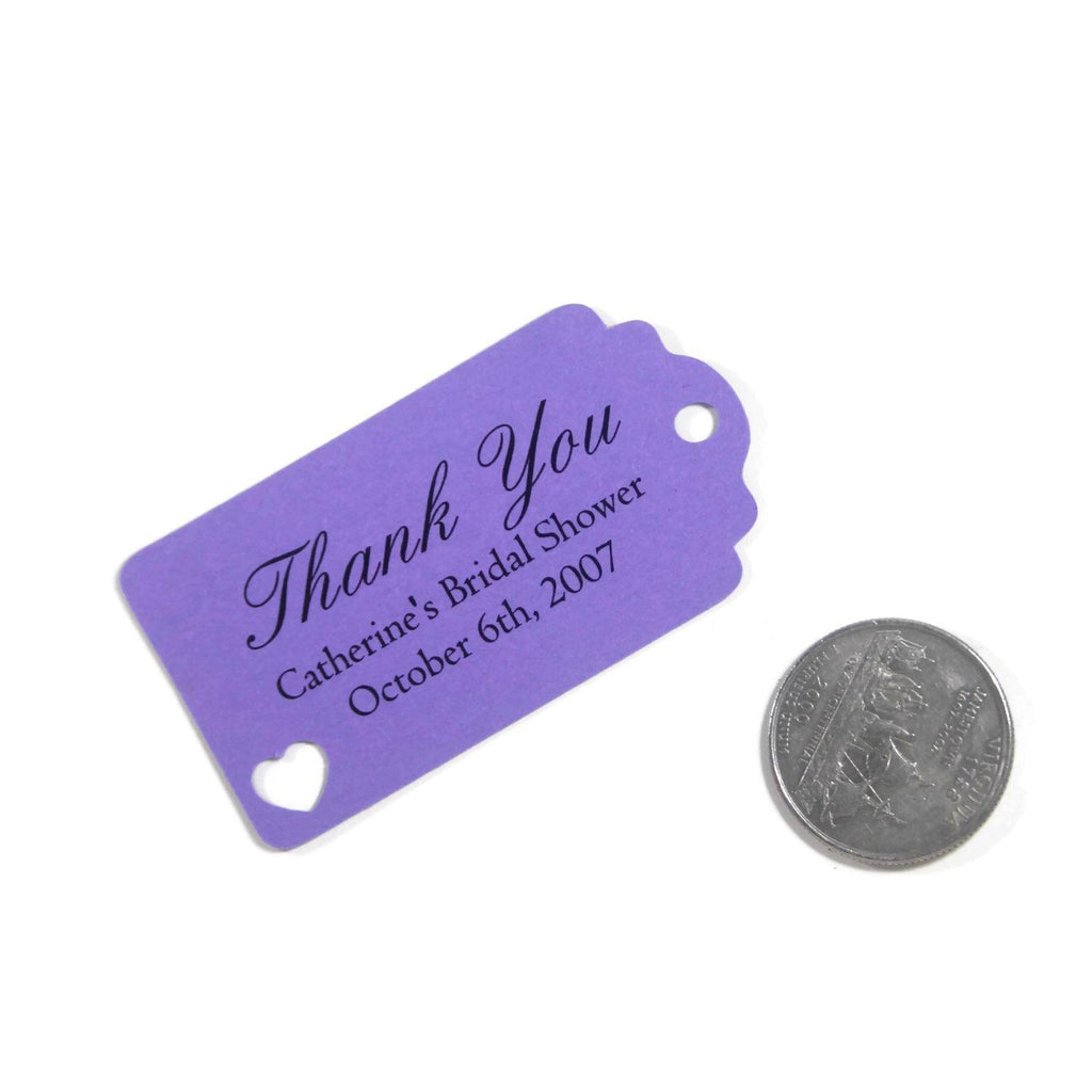 Purple Bridal Shower Thank You Favor Tags Set of 20-Bridal Shower Tags-The Paper Medley