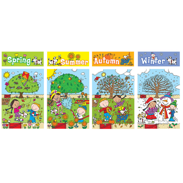 Four Seasons Bulletin Board Set