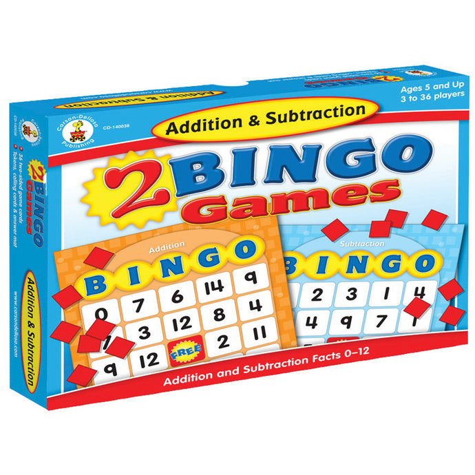 Addition & Subtraction Bingo Board Game