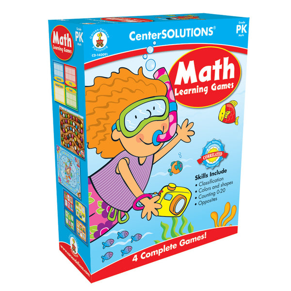 Math Learning Games Board Games - 4 complete games!