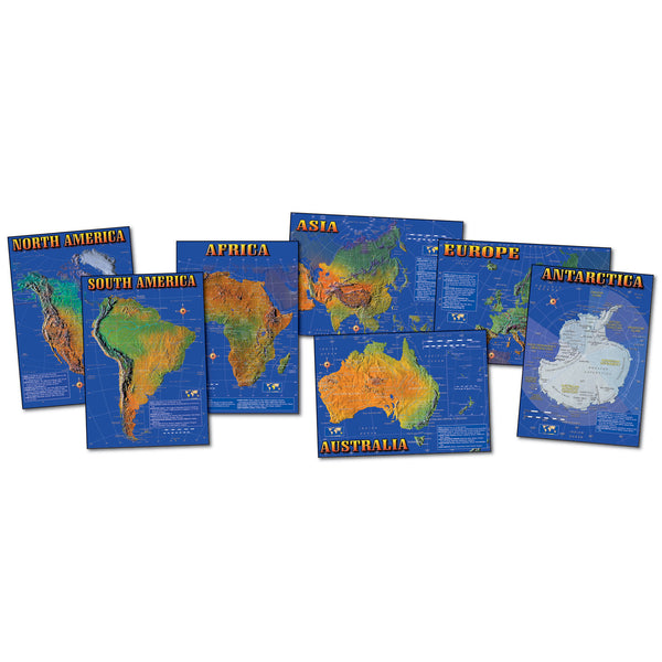 Seven Continents of the World Bulletin Board Set