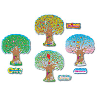 Four Seasons Trees Bulletin Board Set