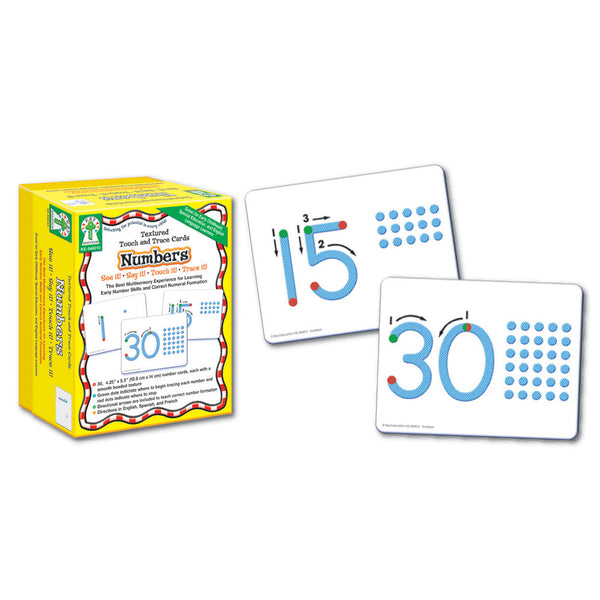 Numbers - Textured Touch and Trace Cards!