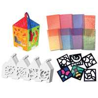 Arts & Crafts Junior Stained Glass Craft Paper & Frames