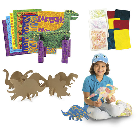 Arts & Crafts Junior Dinosaur Craft Paper & Rubbing Plates