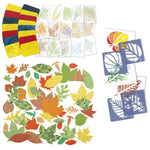 Arts & Crafts Junior Spring & Autumn Leaves Stencils & Craft Paper