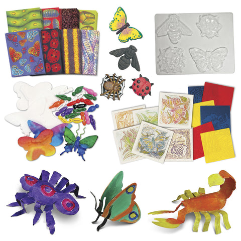 Arts & Crafts Junior Bugs & Butterfly Craft Paper & Rubbing Plates