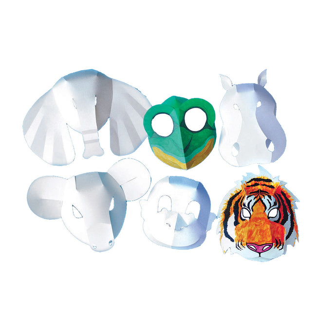 WILD ANIMAL FOLD-UP MASKS - Take an art safari!