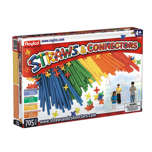 Straws and Connectors, 705/pkg - build complex structures!