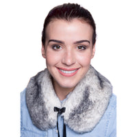 Faux Fur Small Collar - Snow Fox Black