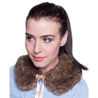 Faux Fur Small Collar - Oyster Brown