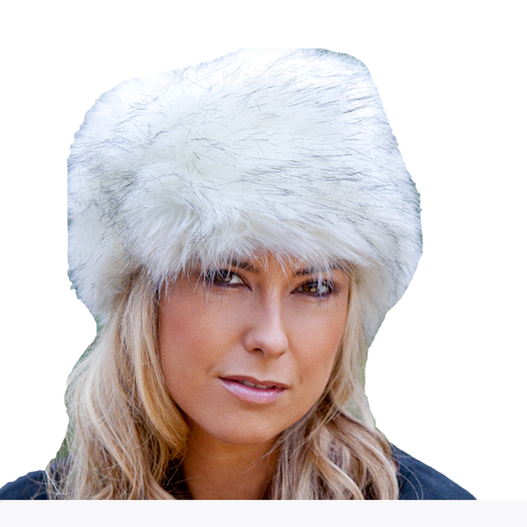 Faux Fur Russian Style Hat - Siberian White
