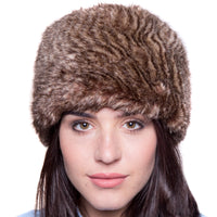 Faux Fur Russian Style Hat - Oyster Brown - Large (63cm)