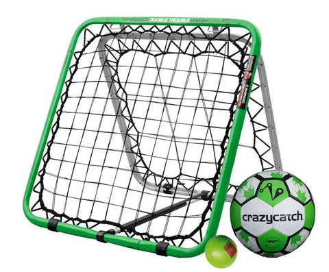 Crazy Catch Football Upstart DT Rebound Net - with 2 balls (Football & Visionball)