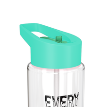 Load image into Gallery viewer, Motivational Sports Water Bottle Aqua Green