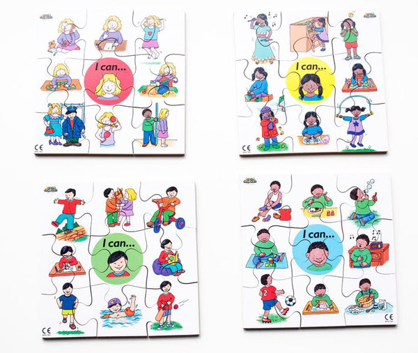 Junior Jigsaw Puzzles - I Can Activities (4 puzzles in one box)