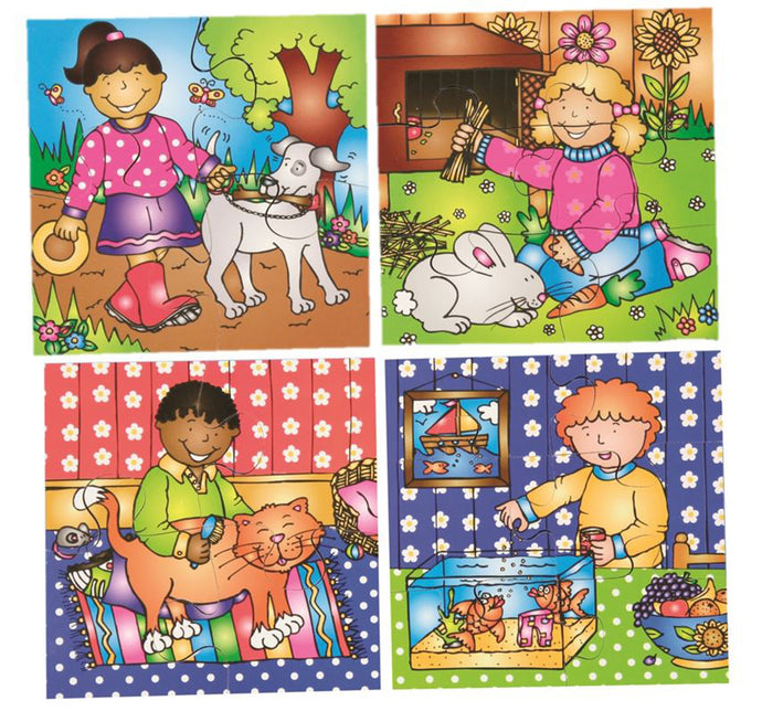 Early Years Jigsaw Puzzles - Look After Our Pets (4 puzzles in one box)