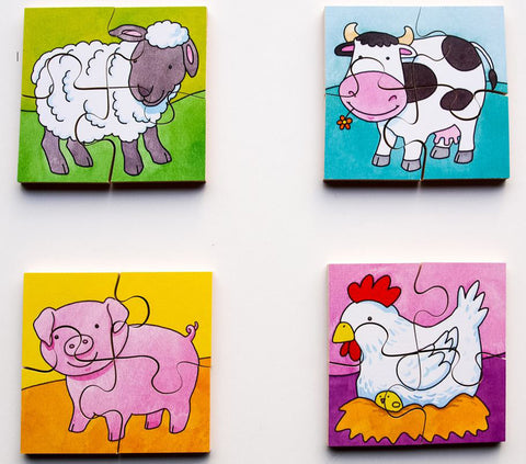 Early Years Jigsaw Puzzles - Farm Animals (4 puzzles in one box)