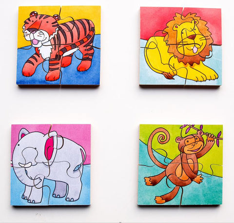 Early Years Jigsaw Puzzles - Jungle Animals (4 puzzles in one box)