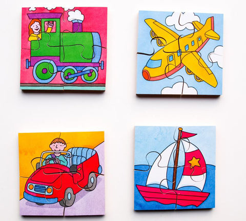 Early Years Jigsaw Puzzles - Modes of Transport (4 puzzles in one box)