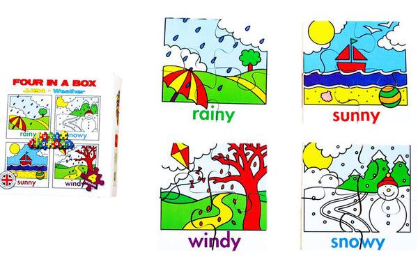 Early Years Jigsaw Puzzles - Weather Scenes (4 puzzles in one box)