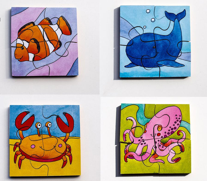 Early Years Jigsaw Puzzles - Sealife Creatures (4 puzzles in one box)