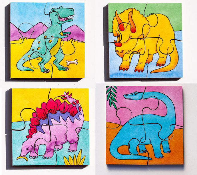 Early Years Jigsaw Puzzles - Dinosaurs (4 puzzles in one box)