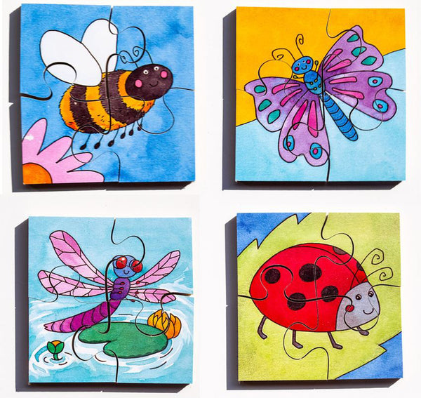 Early Years Jigsaw Puzzles - Garden Insects (4 puzzles in one box)