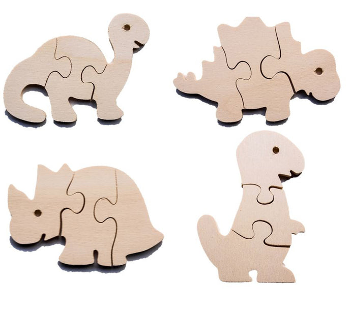 Early Years Wooden Jigsaw Puzzles - Dinosaurs (4 puzzles)