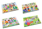 Junior Wooden Jigsaw Puzzles - Emotions Set2 (4 puzzles in one box)