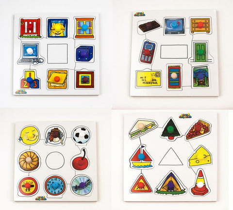Early Years / Junior Peg Boards - Shapes ( 4 boards in one box)